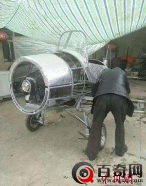 甘肃农民造飞机 甘肃农民耗时一年造飞机 正组装欲试飞