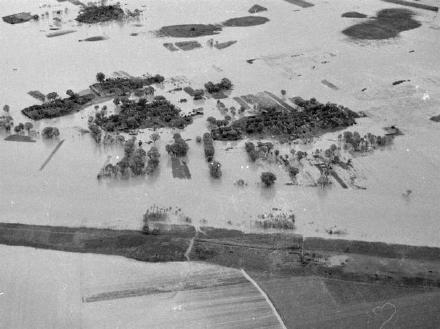 航拍1938年花园口决堤